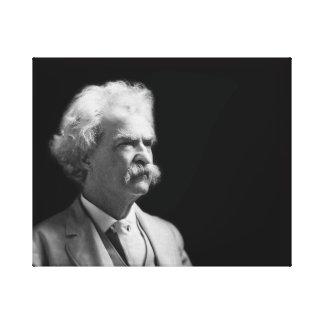 Impressão Em Canvas Vintage Mark Twain icónico preto e branco
