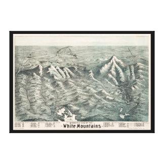 Impressão Em Canvas Vista aérea das montanhas brancas, New Hampshire