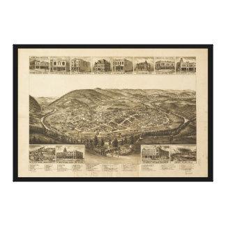 Impressão Em Canvas Vista aérea de Harriman, Tennessee (1892)