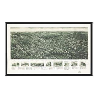 Impressão Em Canvas Vista aérea de Pearl River, New York (1924)