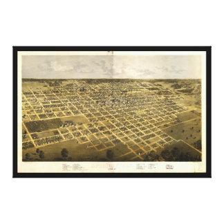 Impressão Em Canvas Vista aérea de Springfield, Illinois (1867)