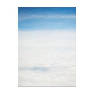 Impressão Em Canvas vista do vôo. nuvens