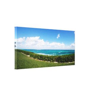 Impressão Em Canvas Vista panorâmica da praia | da ilha do paraíso