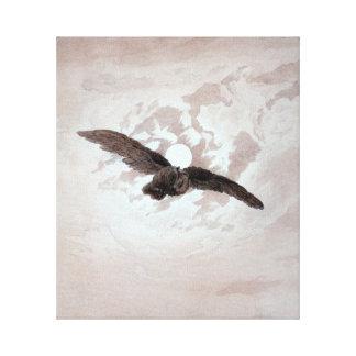 Impressão Em Canvas Vôo da coruja de Caspar David Friedrich contra