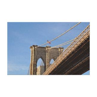 Impressão Em Canvas Wallart de New York da ponte de Brooklyn