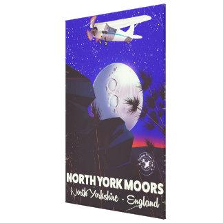 Impressão Em Canvas York norte amarra o poster de viagens de