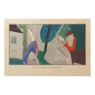Impressão Em Madeira 3 mulheres, forma parisiense, 1914