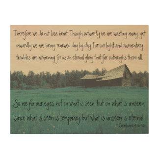 Impressão Em Madeira 4:16 dos Corinthians do celeiro 2 da cerceta - 18