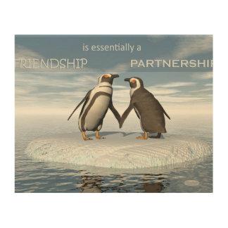 Impressão Em Madeira A amizade é essentailly uma parceria
