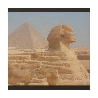Impressão Em Madeira A arte da parede de Giza Egipto da esfinge