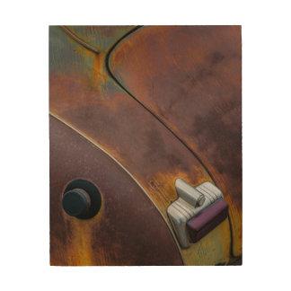 Impressão Em Madeira A beleza da textura de um carro vintage