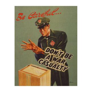 Impressão Em Madeira A estrada de ferro expressa o poster 1940 da