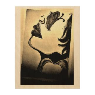 Impressão Em Madeira Abstrato, arte da parede