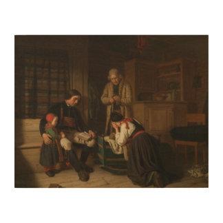 Impressão Em Madeira Amalia Lindegren - a última cama do pouco uma