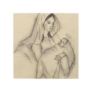 Impressão Em Madeira Amor de mães