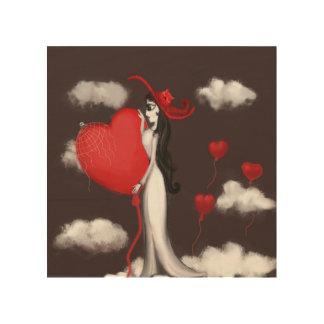 Impressão Em Madeira Amor e valenitne