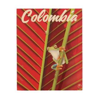 Impressão Em Madeira Arizona o poster de cobre das viagens vintage do