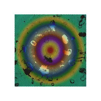Impressão Em Madeira Arte abstracta circundada multicolorido