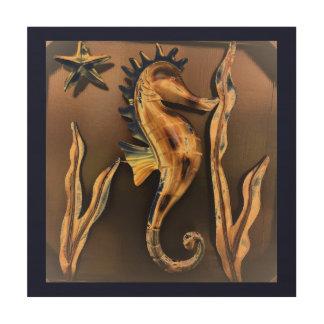Impressão Em Madeira Arte abstracta do cavalo marinho