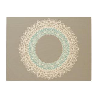 Impressão Em Madeira Arte circular da parede do design do laço de