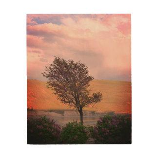 Impressão Em Madeira Arte da madeira da árvore do Lilac