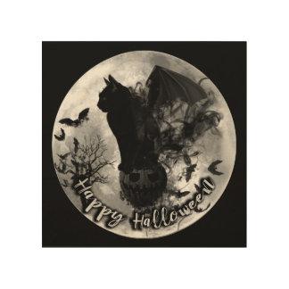 Impressão Em Madeira Arte da madeira do Dia das Bruxas