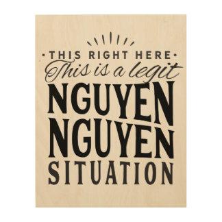 Impressão Em Madeira Arte da parede da situação de Nguyen Nguyen na