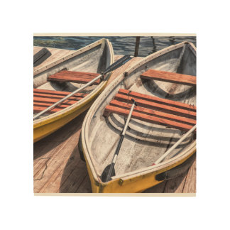 """Impressão Em Madeira Arte de madeira 8"""" da parede x8"""" - os barcos"""