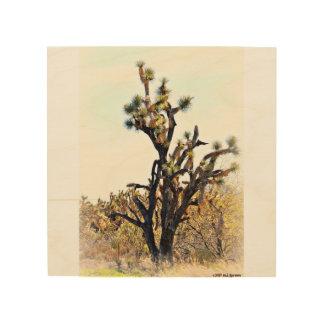 Impressão Em Madeira Arte de madeira da parede da árvore de Joshua