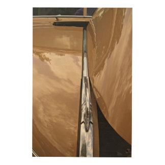 Impressão Em Madeira Arte de madeira da parede da capa do carro