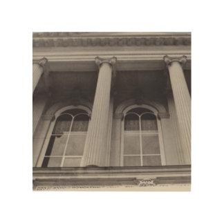 Impressão Em Madeira Arte de madeira da parede das colunas preto e