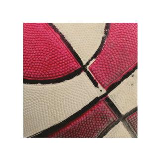 Impressão Em Madeira Arte de madeira da parede do basquetebol