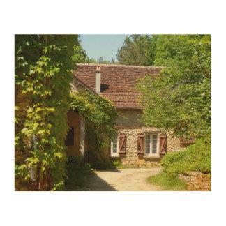 Impressão Em Madeira Arte de madeira francesa da casa da quinta e da