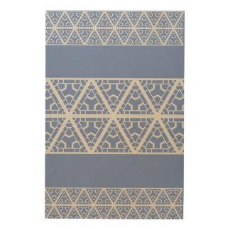 Impressão Em Madeira Arte de madeira geométrica tribal orgânica