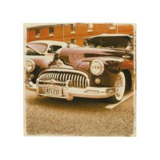Impressão Em Madeira Arte do carro vintage