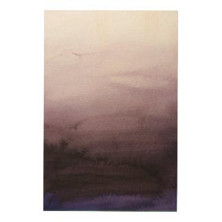Impressão Em Madeira Arte enevoada da parede do abstrato da manhã