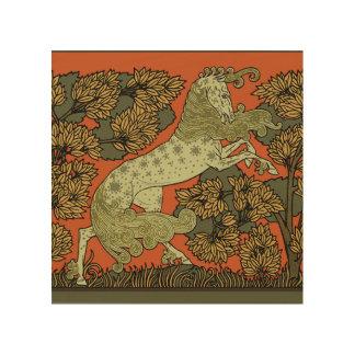 Impressão Em Madeira Arte medieval do cavalo