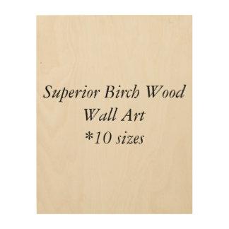 Impressão Em Madeira Arte superior da parede da madeira de vidoeiro de