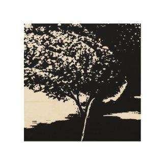 Impressão Em Madeira árvore