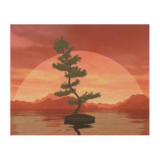 Impressão Em Madeira Árvore dos bonsais do pinho escocês - 3D rendem