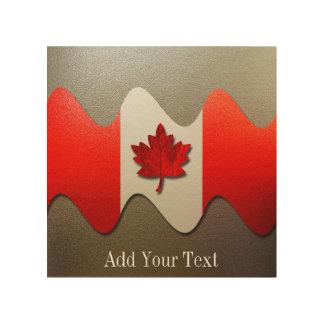 Impressão Em Madeira Bandeira-Cromo de Canadá por Shirley Taylor