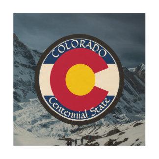 Impressão Em Madeira Bandeira da circular de Colorado