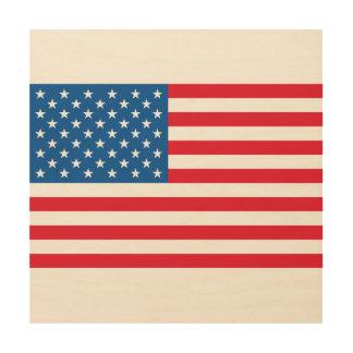 Impressão Em Madeira Bandeira dos Estados Unidos da bandeira dos EUA