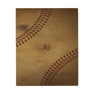 Impressão Em Madeira Basebol do vintage