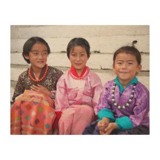 Impressão Em Madeira Bhutan