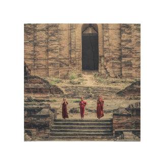Impressão Em Madeira buddha
