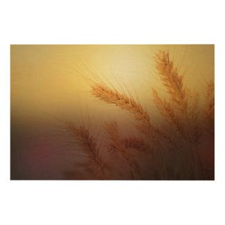 Impressão Em Madeira Campo de trigo