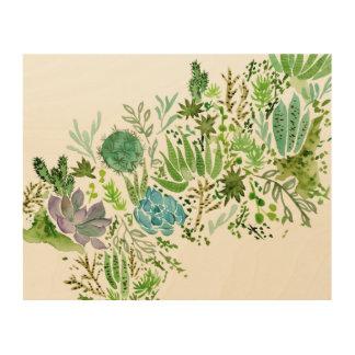 Impressão Em Madeira Campo do Succulent mim