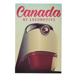 Impressão Em Madeira Canadá pelo poster locomotivo do trem dos anos 50