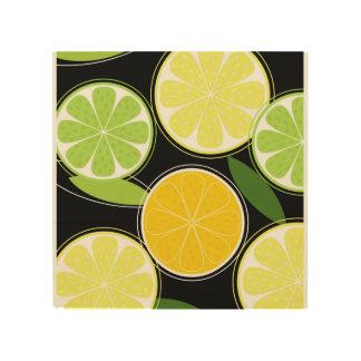 Impressão Em Madeira Canvas tiradas mão com citrinos